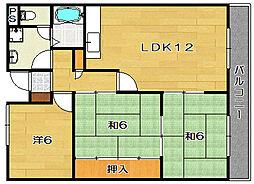 エスポワール茨木[2階]の間取り