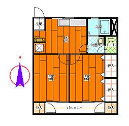 コーポ宮川[2-C号室]の間取り