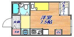 兵庫県神戸市灘区中原通7丁目の賃貸マンションの間取り