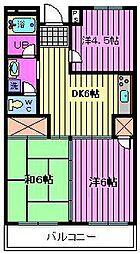 第2渡辺レヂデンス[3階]の間取り