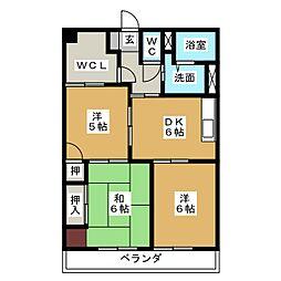 ポーラスター5th覚王山[2階]の間取り