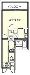 アソシアグロッツォ博多PLACE[6階]の間取り