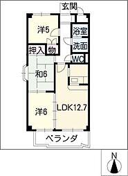 グリーンパレス新栄[1階]の間取り