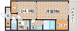 兵庫県神戸市長田区水笠通4丁目の賃貸マンションの間取り