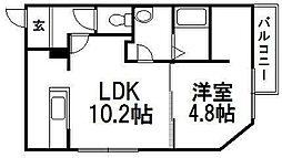 北海道札幌市豊平区西岡五条1丁目の賃貸マンションの間取り