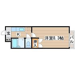 宮城県仙台市青葉区小松島4丁目の賃貸アパートの間取り