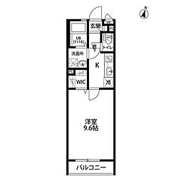 wisteria[203号室]の間取り