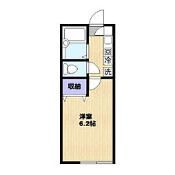 神奈川県川崎市多摩区西生田3丁目の賃貸アパートの間取り