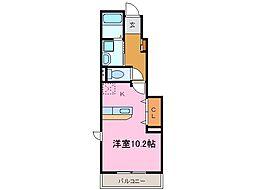 愛知県知多郡東浦町大字石浜字前浜の賃貸アパートの間取り