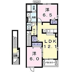 パークスクエアB[2階]の間取り