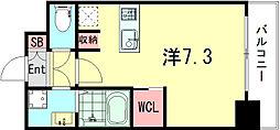 SOAR SINNAGATA 11階1Kの間取り