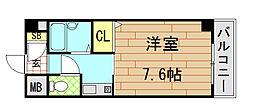 ウイングコート東大阪[605号室]の間取り