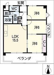 オリエンタルビル[5階]の間取り