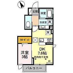 セジュール桃花(篠ノ井小森)[101号室号室]の間取り