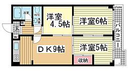 シャトー・ドー・篠原[1階]の間取り