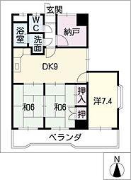 第2猪村ビルディング[6階]の間取り
