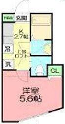 OYO LIFE #055 YHA055 DEN藤沢本町 1階1Kの間取り