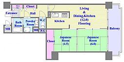 レバンテ垂水 3番館[10階]の間取り