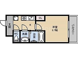パーラム徳庵[6階]の間取り
