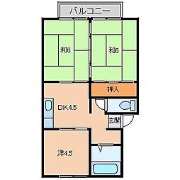 コーポいのうえA棟[2階]の間取り
