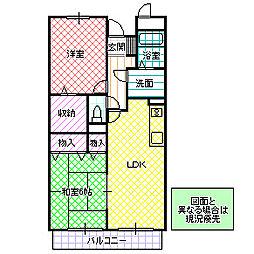 木村ロイヤルマンション III[404号室号室]の間取り