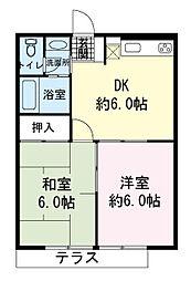 ドミール真洋2号館[2階]の間取り