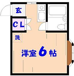 カトレアハウス[D号室]の間取り