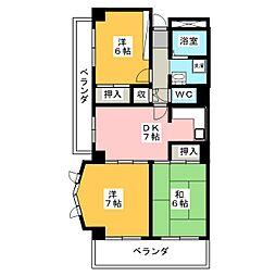 グレイスミヤ田町[2階]の間取り