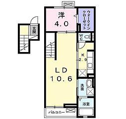 兵庫県明石市和坂3丁目の賃貸マンションの間取り