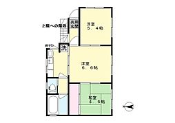 神奈川県川崎市麻生区万福寺4丁目の賃貸アパートの間取り