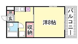 第7パークマンション[203号室]の間取り