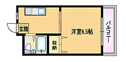 フジイハイツ[4階]の間取り
