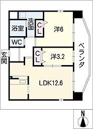 アランヴェール覚王山[9階]の間取り