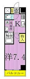 Regalo Kashiwa 〜レガーロ カシワ〜[202号室]の間取り