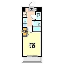 スライビング冷泉[8階]の間取り