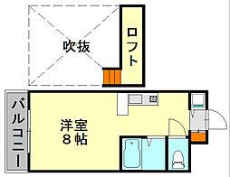 じゅうグランドモア福大前(JGM)[3階]の間取り