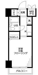 東京メトロ副都心線 雑司が谷駅 徒歩2分の賃貸マンション 2階1Kの間取り