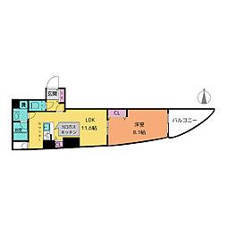 さくらHills富士見[2階]の間取り