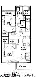 フォンターナ江井島[2階]の間取り