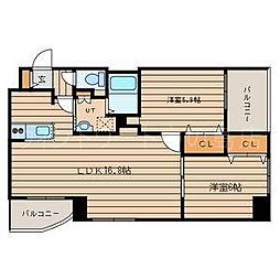 北海道札幌市豊平区美園十一条6丁目の賃貸マンションの間取り