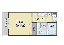 MARKDuo塚越II[1階]の間取り