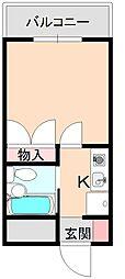大阪府豊中市南桜塚1丁目の賃貸マンションの間取り