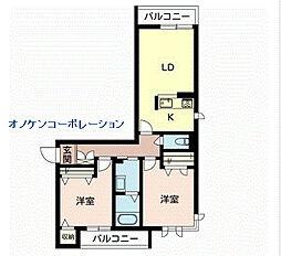 (仮称)シャーメゾン末広[305号室]の間取り