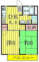 昭和ハイツB棟[2階]の間取り