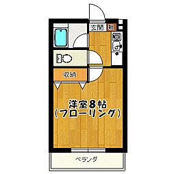 キャロットハウス3[1-B号室]の間取り