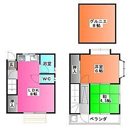 [一戸建] 東京都北区上十条1 の賃貸【/】の間取り