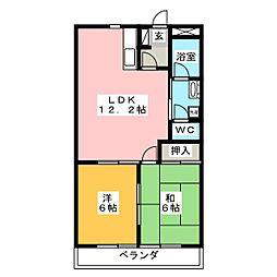 グランディス21NABARI[2階]の間取り
