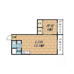 東興マンション[2階]の間取り