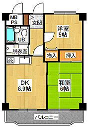 宝塚グリーンハイツ 4号館[302号室]の間取り