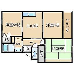 タカラマンションI[103号室]の間取り
